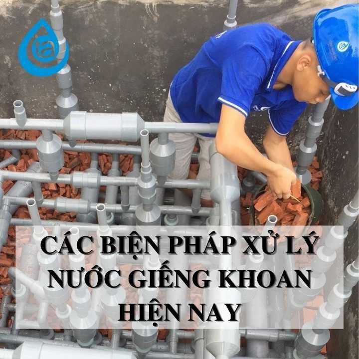 Xử lý nước giếng khoan nhiễm sắt, canxi, đá vôi, asen, chì