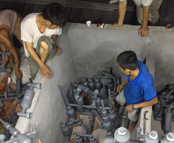 xử lý nước thải sinh hoạt công nhân