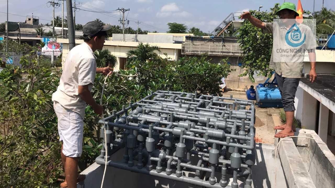 hệ thống xử lý nước ao thối