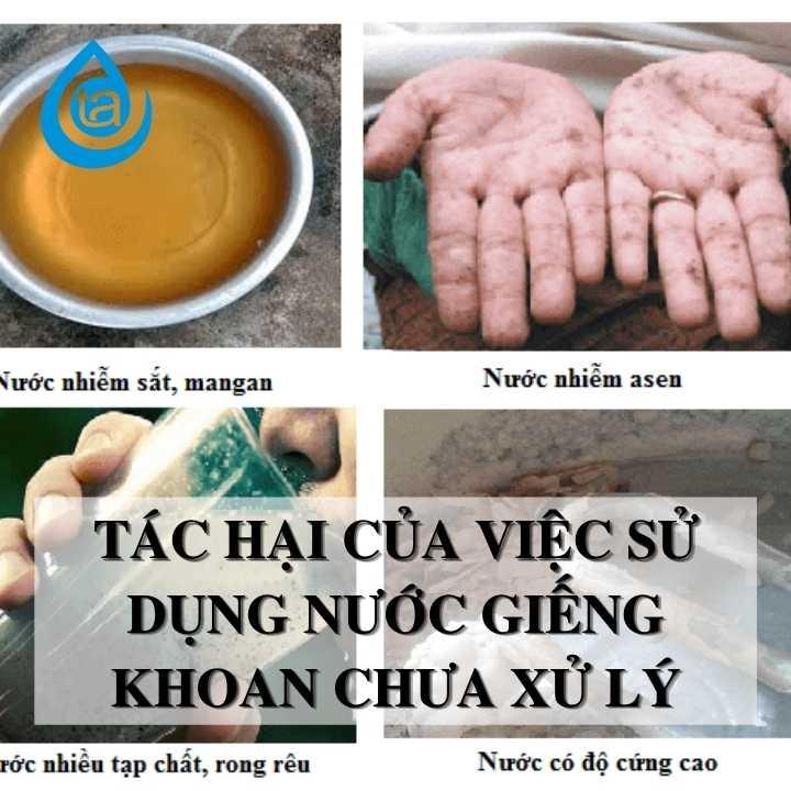 tác hại của nước giếng khoan