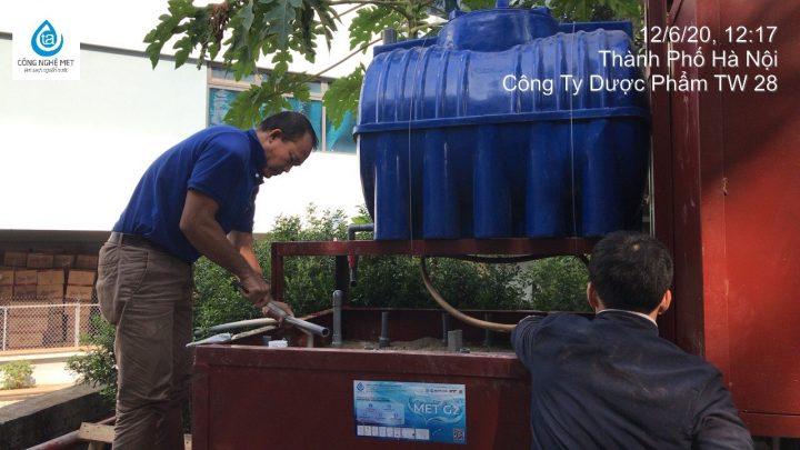 Xử lý nước thải của Công ty CP Sản Xuất Dược liệu Trung Ương 28