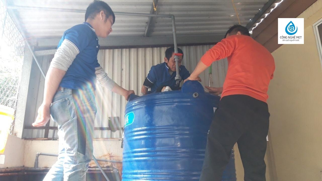 hệ thống xử lý nước giếng khoan nhiễm sắt tại bắc ninh