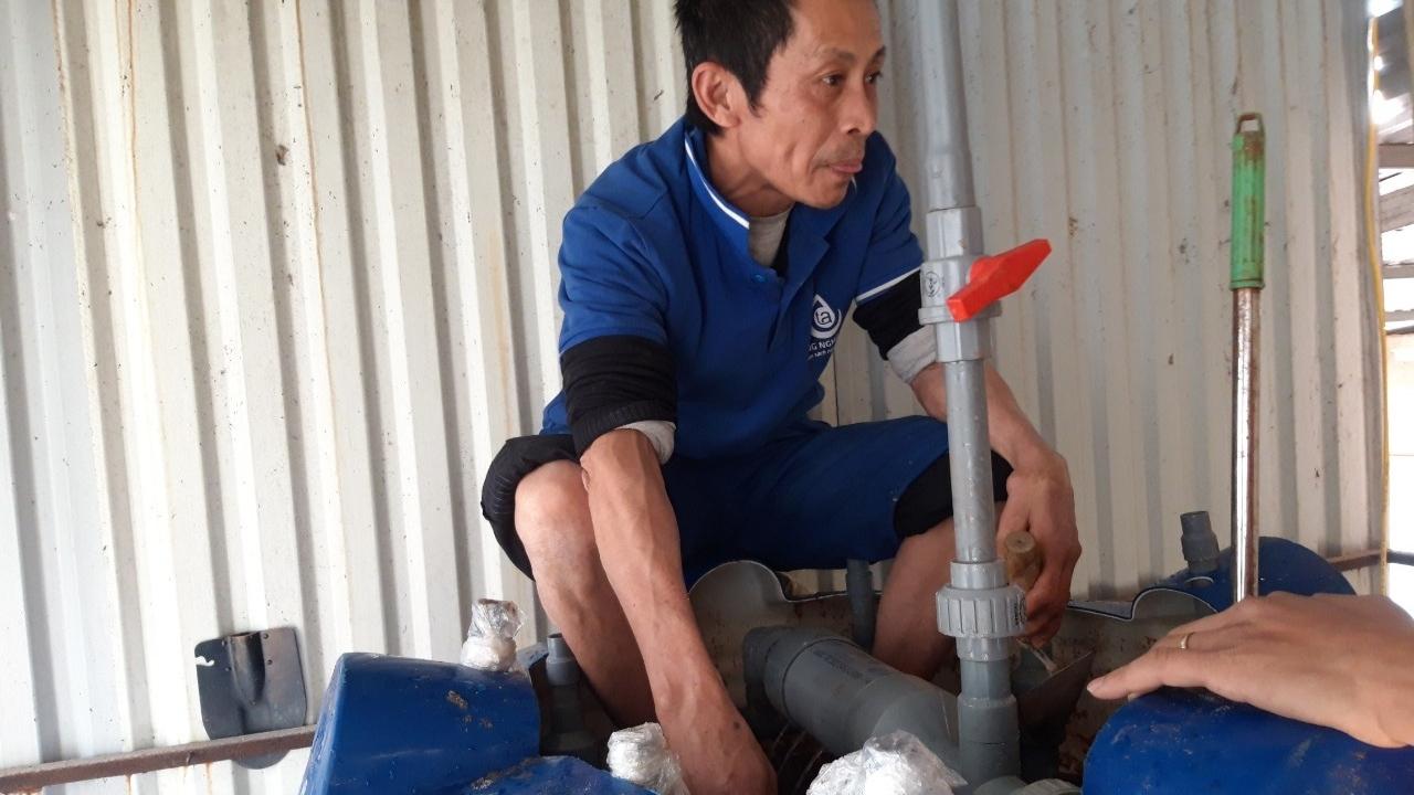 hệ thống xử lý nước giếng khoan nhiễm sắt nặng tại bắc ninh