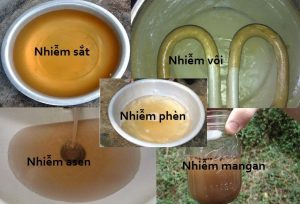 Tại sao nước giếng khoan có màu vàng, mùi tanh