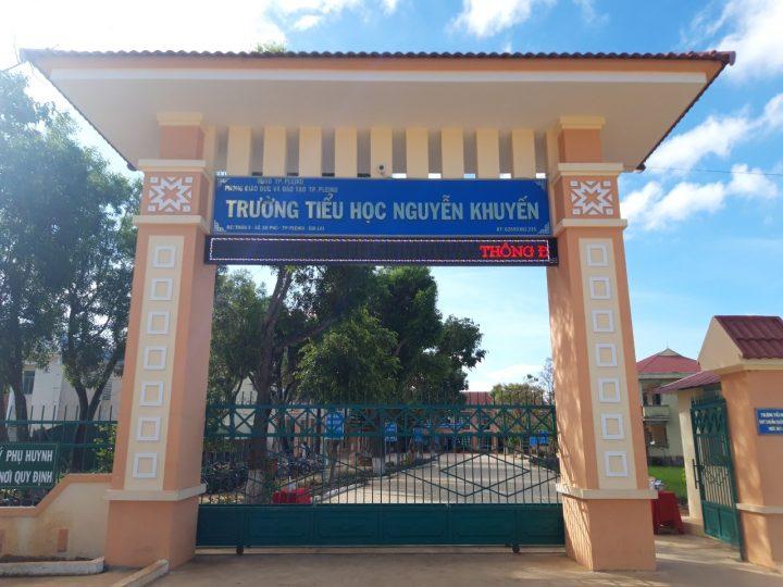 Dự án vì cộng đồng lắp đặt hệ thống xứ lý nước tại trường tiểu học Nguyễn Khuyến tỉnh Gia Lai