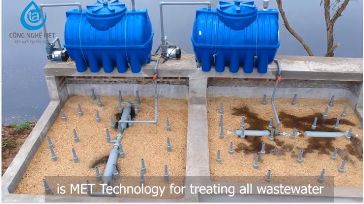 Bể lọc nước thải công nghiệp được lắp đặt theo công nghiệp met