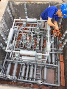 lắp ráp công trình xử lý nước