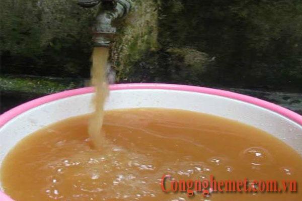 Nước giếng nhiễm phèn